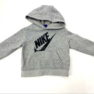 Nike toddler hoodie 2T gray black